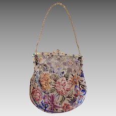Antique, Austro Hungarian, Micro Petit Point, Decorative, 1910's Handbag