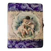 Antique 1890's Cherubs, Embossed, Celluloid Photo Album With One Cabinet Photo