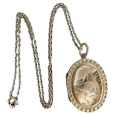Victorian Aesthetic, Silver, Small Butterfly Locket