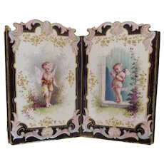 Porcelain, Ornate, Cherub Themed, Plant/Flower, Wall Hanging or Table-Top Use Planter