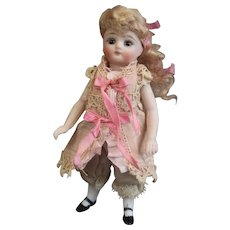 """4.3"""" French pocket doll, the cutest all bisque mignonette"""