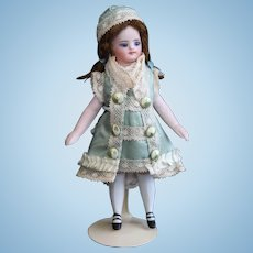 Silk dress and hat for French mignonette doll