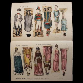 """""""La Poupée Modèle"""" Original supplement - Paper doll """"Napoléon"""""""