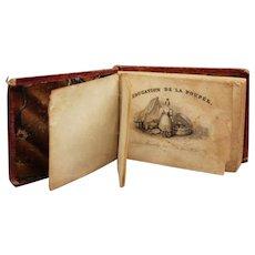"""French antique miniature doll book """"L'éducation de la poupée"""" - Circa 1825"""