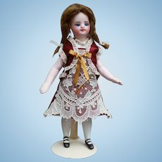 Antique silk and fine lace dress for French mignonette doll