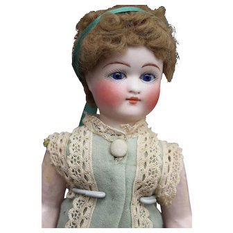 """Early Belton type doll - Rare Bru lookalike 8.3"""" all original condition."""