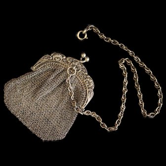 Little french purse with chatelaine for your doll - Circa 1900