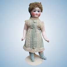"Tiny 8.3"" Bru lookalike doll - Early Sonneberg Belton doll for the French market"