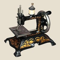 Antique cast iron Toy sewing machine - Muller 15 - Circa 1900