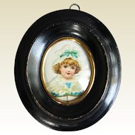 Rare antique miniature frame in blackened wood - Circa 1870