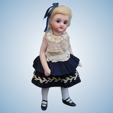 "Antique French type mignonette doll - All bisque 4.7"" German doll"