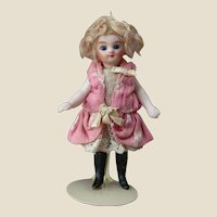French all bisque mignonette doll - Black socks and tiny size! - Circa 1885