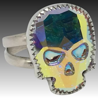 Handcrafted Sterling Silver Skull Ring