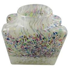 Vintage Confetti Glass Vase