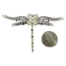 Gorgeous Givenchy Dragonfly Brooch,New,Signed