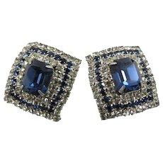 Vintage Hobe Rhinestone Earrings