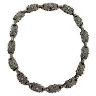 Elegant Judith Jack Sterling Silver & Marcasite Necklace