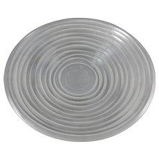Impressive Modernist Salviati Graffiati Glass Plate, Signed