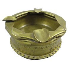 Large Trench Art Cannon shell Ashtray,1899