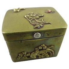 Japanese Mixed Metal Snuff Box