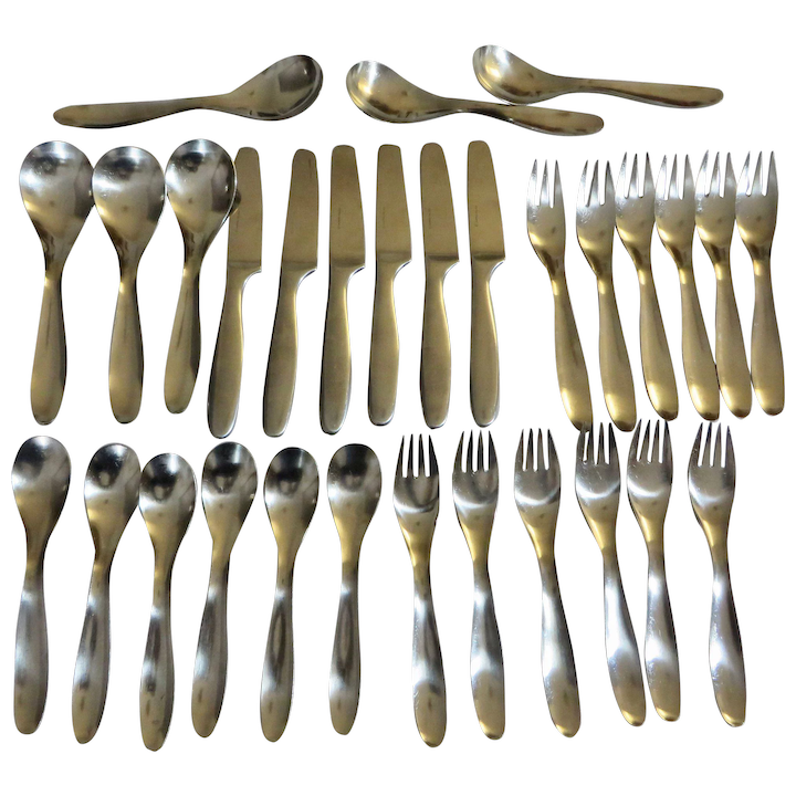 Lauffer Finland Design 9 Stainless service for six  Thirty pieces