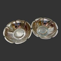 Two matching Sterling Silver Joel F. Hewes bowls, Arts and Crafts period
