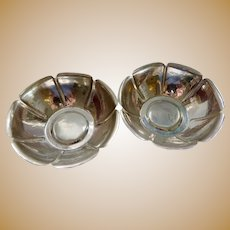 Two matching Sterling Silver Joel F. Hughes bowls, Arts and Crafts period