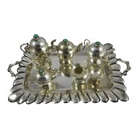 Miniature Sterling Silver Tea Set with Tray