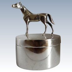 Sterling Silver Udall Ballou Stamp Dispenser Horse Theme