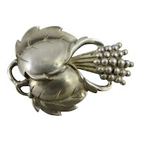 Lucious Vintage Viking Craft Sterling Silver Brooch