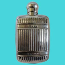 Christofle silver plated flask