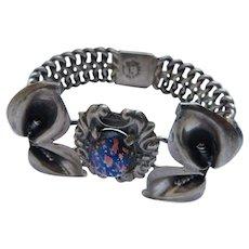 Vintage Sterling Silver opal bracelet, Mexico