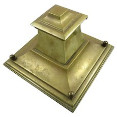Antique Brass Austrian Inkwell