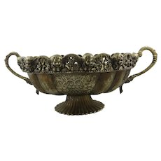 Large Ornate Brass Plated Urn