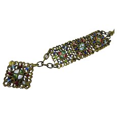Victorian Enamel watch Fob