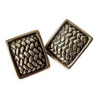 Kieselstein Cord Sterling Silver Earrings, signed