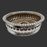 English Sterling Silver Wine Coaster