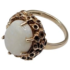 14K Gold and Opal Ring, Size 5