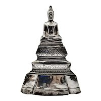 Vintage Silver Covered Buddha, Thailand