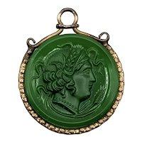 Victorian Green Intaglio Watch Fob