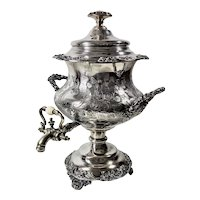 Victorian Silver Plated Samovar