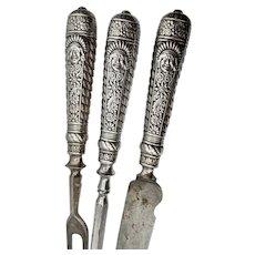 Vintage Silver Plated  Carving Set