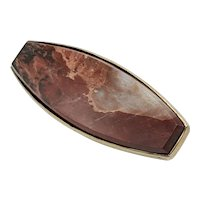 Victorian Sterling Agate Brooch