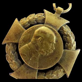Bronze commemorative medal Emperor Franz Josef 1,Austria-Hungary,1848-1908