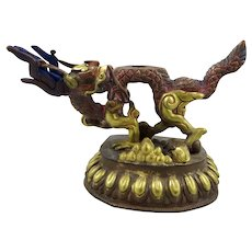 Tibetan Bronze/Copper Dragon Figure