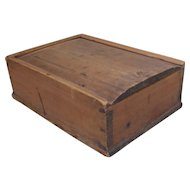 Antique 19 century Scandinavian candle box in pine wood