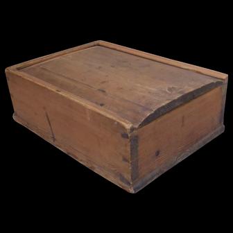 Antique 19 century Scandinavian candle box in pine wood
