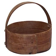 19th Century antique Scandinavian bentwood pine basket