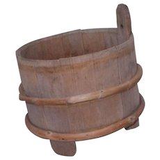 19 Century Scandinavian Swedish  piggin / milk bucket