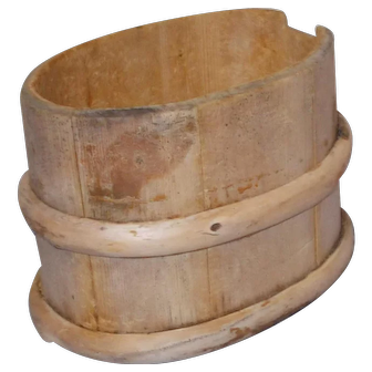 19 Century Scandinavian Swedish  wood hand bucket